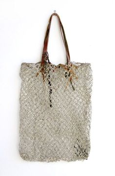 Correll Correll [Australia] Fish net bag with leather handles. LOVE