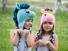 Handmade Crochet Pony Unicorn Horse Hat For All Ages