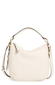 A pretty white satchel for weekend outings.
