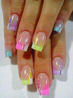 Toe Nail Designs For Spring - Nail Art Tips, Designs Ideas Spring Nail Art, Spring Nails, Summer Nails, Fancy Nails, Diy Nails, Pretty Nails, Neon Nails, Nail Designs 2014, Nail Designs Spring
