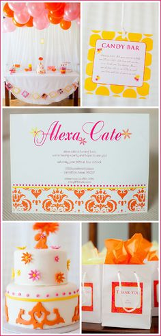 A Hot Pink & Orange Birthday Party is perfect for any girl!