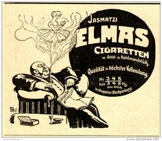Original-Werbung/ Anzeige 1910 - JASMATZI ELMAS CIGARETTEN - ca. 80 x 75 mm