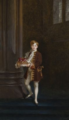 Edward Charles Vane-Tempest-Stewart (1902–1955), Lord Stewart, later 8th Marquess of Londonderry, as a page at the coronation of King George V, by Philip de László, c.1911. ©National Trust Images/John Hammond