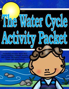 THE WATER CYCLE Activity Packet.  Here is a useful activity packet that includes color vocabulary word wall, b/w word wall, Puzzle Match Activity Center,  flappable activity, Exit Ticket, crossword puzzle,word search and worksheets to use with an interactive science journal when teaching about the water cycle.