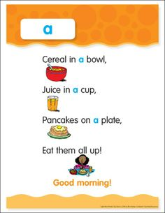 With this lively poem, young learners will rhyme their way to sight word success! Includes color and black-and-white versions of the poem, a cloze version, word cards, and teaching tips! Sight Word Sentences, Sight Words, Sight Word Worksheets, Rhyming Words, Number Worksheets, Reading Comprehension For Kids, Phonics Reading, Learning English For Kids, English Worksheets For Kids