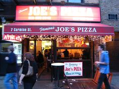 Joe's Pizza in the West Village.suppose to be the best. Joe's Pizza, New Pizza, Good Pizza, Restaurant New York, Amazing Spiderman, Best Pizza In Nyc, Fun Restaurants In Nyc, Italia, Restaurant