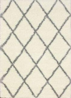 Moroccan Diamond Shag Gray Area Rug