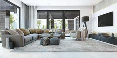 Projekt domu HomeKoncept-32 123,52 m2 - koszt budowy 257 tys. zł - EXTRADOM Interior Design Inspiration, Home Interior Design, Living Room Pictures, Minimalist Living, Living Room Modern, Living Rooms, Home Decor Trends, Outdoor Furniture Sets, New Homes