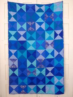 the famous blue quilt via ritacor - quilting