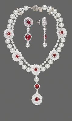 Double-Strand Necklace and Earring Set with Swarovski® Crystal Beads and Pearls and Seed Beads