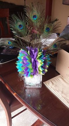 Peacock centerpiece                                                                                                                                                                                 More