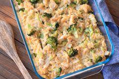 Hungry Girl's Healthy Cheesy Chicken Broccoli & Cauliflower Rice Casserole Recipe