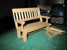 ICE CREAM STICK CRAFTS | My Hobby Craft - Miniature Park Benches for Dolls
