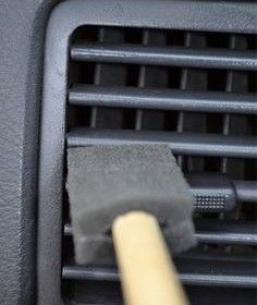 Clean you car vents with a sponge brush, and other car detailing tips &…