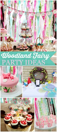 How cute is this woodland fairy party with gnomes for the boys? See more party ideas at CatchMyParty.com!