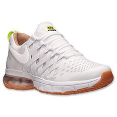 Men's Nike Fingertrap Max Premium Running Shoes| Finish Line | White/Shale/Volt