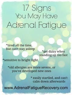Do you have adrenal fatigue symptoms? Symptoms of adrenal fatigue resemble what our mothers used to call a nervous breakdown. Fatiga Adrenal, Signs Of Adrenal Fatigue, Adrenal Fatigue Treatment, Fatigue Causes, Chronic Fatigue Syndrome Diet, Adrenal Health, Chronic Fatigue Symptoms, Adrenal Glands, Chronic Illness