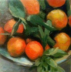 """Orange You Cute"" - Original Fine Art for Sale - © by Jessica Stanfill"