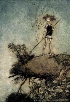 Fairy Tale illustration by Arthur Rackham