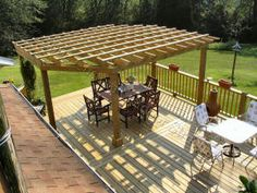 swing and pergula on a deck - Google Search