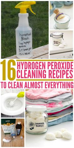 In case you didn't know, hydrogen peroxide is extremely versatile and is the perfect ingredient for natural homemade cleaners. Here are some recipes to follow to make products that clean almost everything in your home.