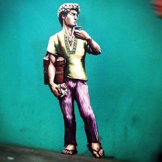 """""""David"""" drinking Mate - From an alleyway in Cordoba"""