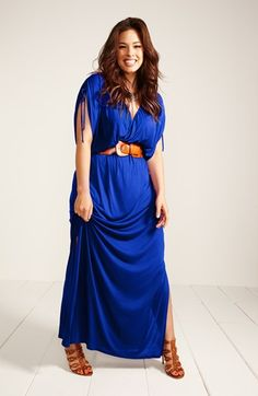 Gorgeous! Royal blue maxi dress.