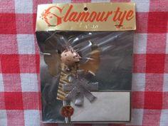 VINTAGE-HOLT-HOWARD-MADE-IN-JAPAN-GLAMOUR-TYE-CHRISTMAS-ANGEL-GIFT-CARD