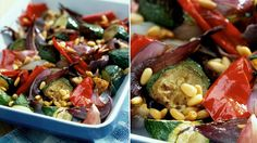 Skvělá pečená zelenina je ideální přílohou ke grilovanému masu. Piniové oříšky navíc dodají na křupavosti.