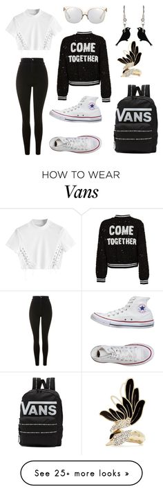 """Untitled #85"" by ioana423456 on Polyvore featuring Topshop, Converse, Vans, Alice + Olivia, Linda Farrow and Lanvin"