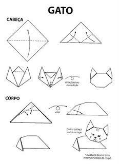 Ceci EuQfiz: Origami Fácil: Bichos de origami, xícara de origami e outros