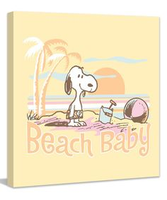 Loving this Peanuts 'Beach Baby' Wrapped Canvas on #zulily! #zulilyfinds
