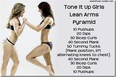 Lean Arms...looks easy, but you'll feel it half way through those Mountain Climbers. Yeow!