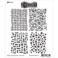 Ranger Dyan Reaveley's Dylusions Cling Stamp Collections 8.5 X7 - Graphic Backgrounds