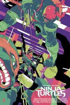 Teenage Mutant Ninja Turtles - movie poster by Tomer Hanuka Tomer Hanuka, Beau Film, Tmnt, Turtle Images, Virtual Art, Alternative Movie Posters, Geek Art, Environmental Art, Cultura Pop