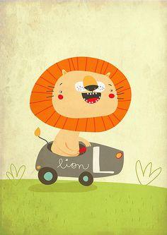 Children's Illustration   Happy Lion