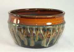 Stoneware pottery bowl handthrown ceramic by DrostePottery on Etsy, $26.00