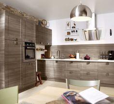 Cuisine Blanc / Beige / Naturel Brun / Marron DELINIA