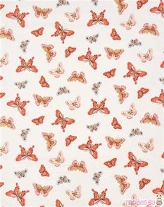 Cute Wallpaper: off-white Michael Miller fabric butterfly insect All A Flutter – Animal Fabric -… Iphone Wallpaper Vsco, Iphone Background Wallpaper, Aesthetic Iphone Wallpaper, Aesthetic Wallpapers, Butterfly Wallpaper Iphone, Cute Wallpaper Backgrounds, Trendy Wallpaper, Cute Wallpapers, Tissu Michael Miller