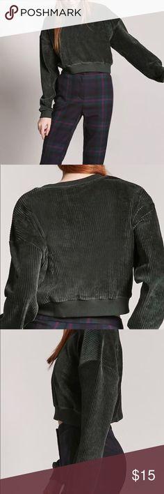 Velvet pullover Velvet knit pullover. NWT. Forever 21 Sweaters