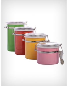 4pcs Stainless Steel Colored Jar Set Accessories Onlinekitchen