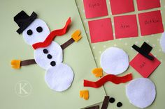 Great Ideas for Handmade Stocking Stuffers! ~copyright-katherine-marie-885-snowman-felt-game