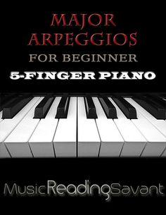 Major Arpeggios For Beginner 5-Finger Piano – Music Reading Savant Store