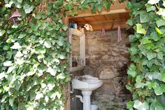 Outdoor bathroom!