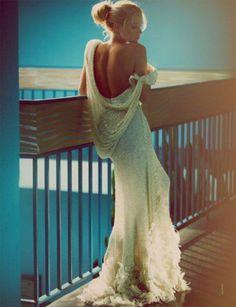 White haute couture dress