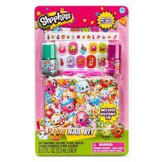 Shopkins Nail polish with Keepsake Tin Shopkins Nail Polish, Tmnt, Moose Toys, Nails For Kids, Nail Art Kit, Cosmetic Sets, Unicorn Birthday Parties