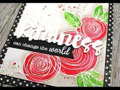 cardmaking video: SSS Sketch Ranunculus (Again!) | 3 Distress Ink Watercolor | Color Throw...