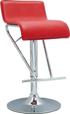 """Chintaly 6122-AS-RED Pneumatic Gas Lift Adjustable Height Swivel Stool - 21"""" - 31"""""""