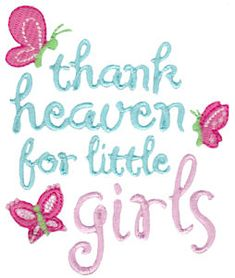 Embroidery   Free Machine Embroidery Designs   Bunnycup Embroidery   Baby Girl Sentiments