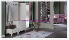 İstikbal Perla Beyaz Portmanto Decor, Furniture, Home Decor, Entryway, Mirror
